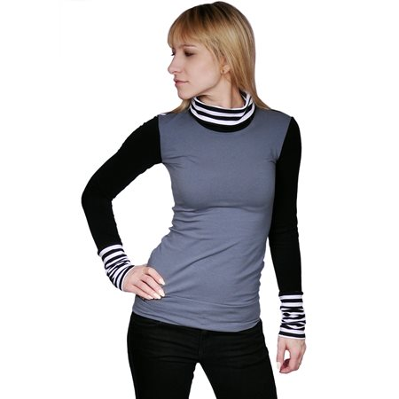 Arm-Gloves-Shirt with turtle neck