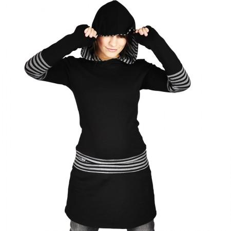 Hoodie kleid 85cm anna friday atelier karolina anna - Sweatshirt kleid lang ...