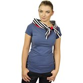 Shirt with bow collar